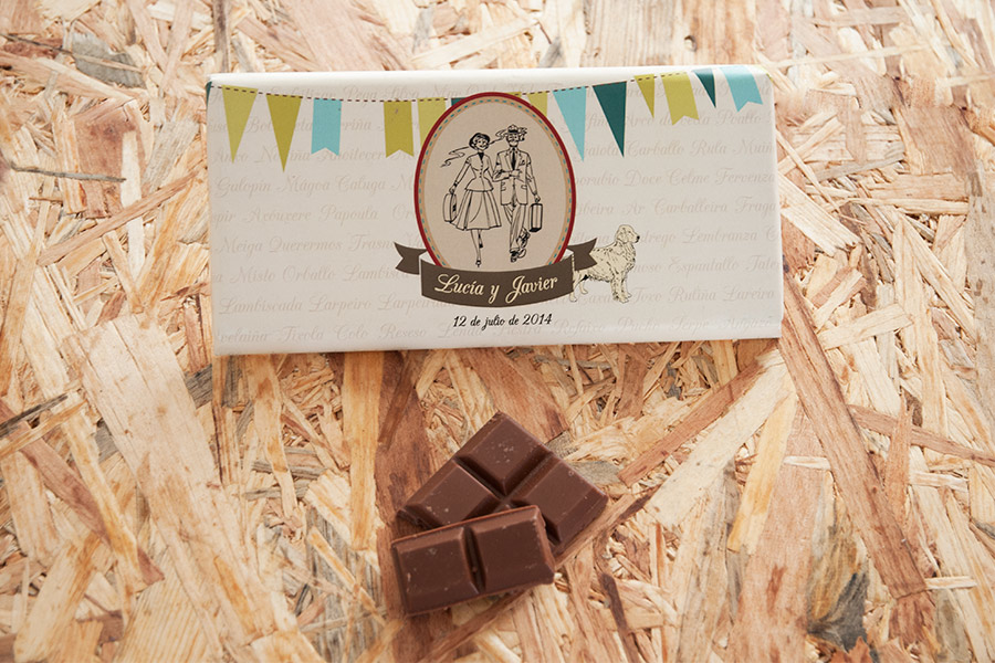 Chocolate como detalle de invitados