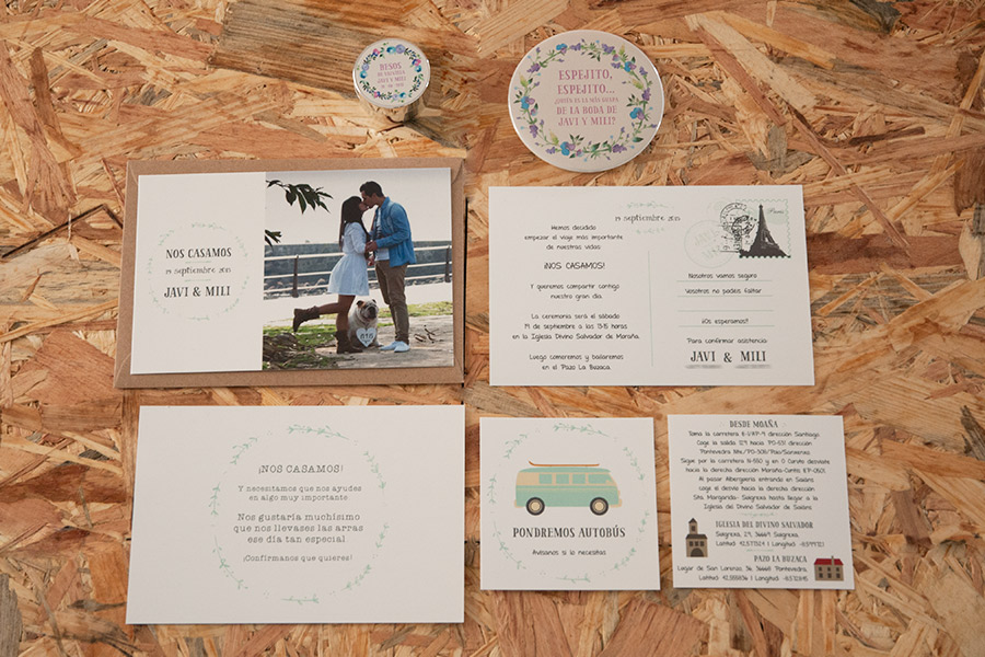 Invitaciones personalizadas Javi & Mili